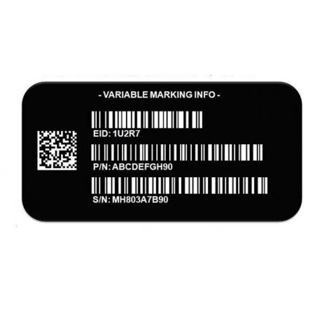 3M 7847 黑色标签