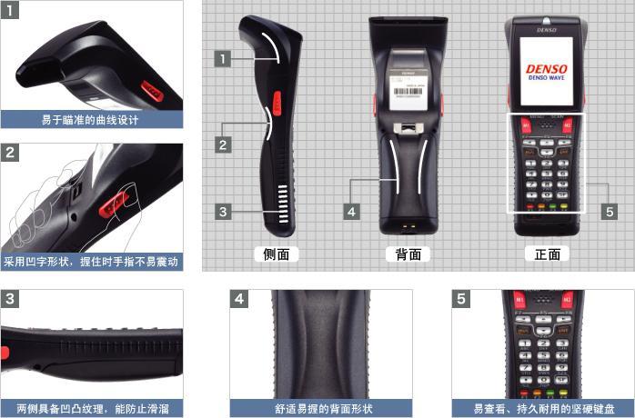 Denso BHT-800B数据采集器 外形设计